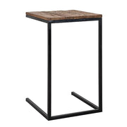 Raffles Reclaimed Wood Industrial Side Table Cutout