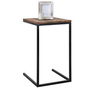 Raffles Reclaimed Wood Industrial Side Table Cut Out