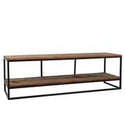 Raffles Reclaimed Wood Industrial TV Unit Cutout