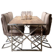 Celine Velvet Dining Chairs and Table