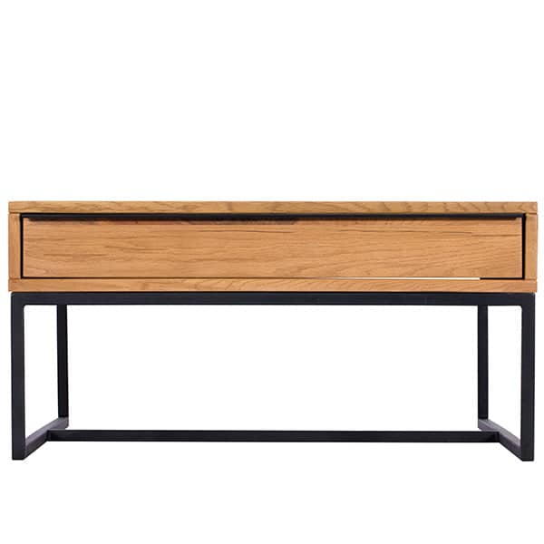 Rocco Industrial Oak Coffee Table Front