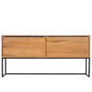Rocco Industrial Rustic Oak Console Table