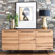 Rocco Industrial Oak Sideboard Lifestyle