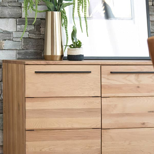 Rocco Industrial Oak Sideboard Side
