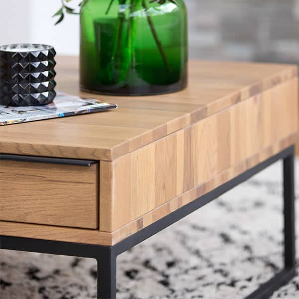 Rocco Industrial Oak Coffee Table Square