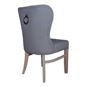 Back of Grey Luxe Daisy Upholstered Dining Chair