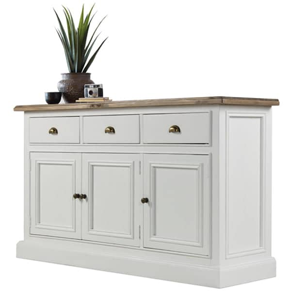 Large White Painted Reclaimed Wood Sideboard