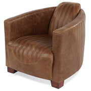 Spitfire Brown Cerato Leather Armchair