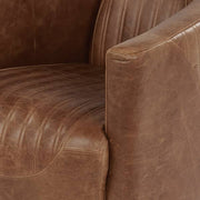 Spitfire Leather Armchair Closeup