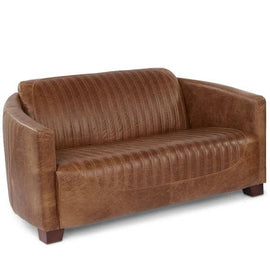 Spitfire Leather Sofa Side
