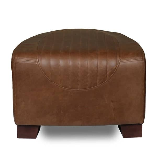 Spitfire Cerato Brown Leather Footstool