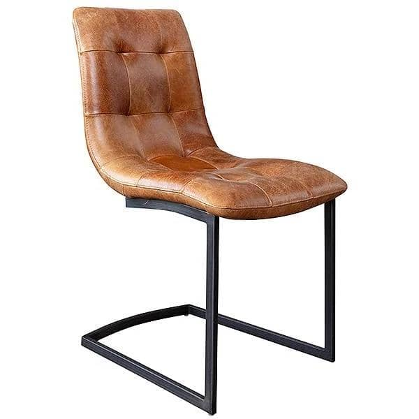 Standford Brown Leather Dining Chair