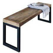 Standford Industrial Reclaimed Wood Bench Cutout