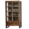 Standford Reclaimed Wood Glass Display Cabinet Cutout