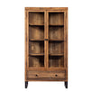 Standford Reclaimed Wood Glass Display Cabinet