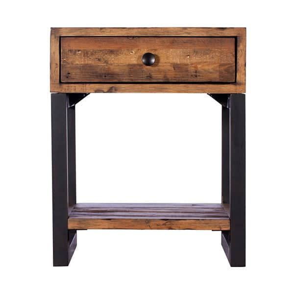 oak reclaimed wood side tables. Black Bedroom Furniture Sets. Home Design Ideas