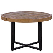 Standford Round Reclaimed Wood Dining Table