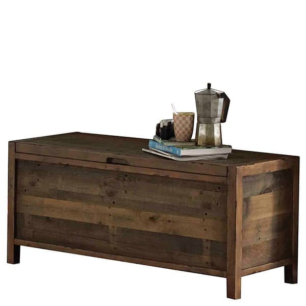 Standford Reclaimed Wood Blanket Box Chest cutout