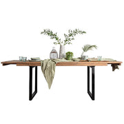 Standford Industrial Reclaimed Wood Extending Dining Table