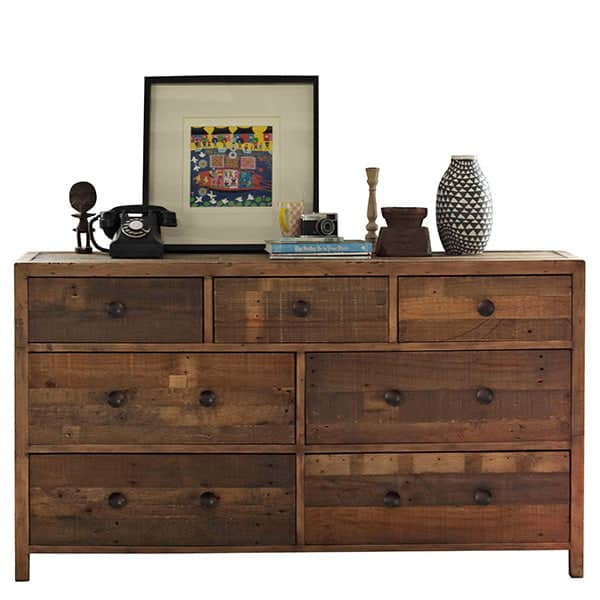 Standford Reclaimed Wood Large Chest of Drawers Cutout