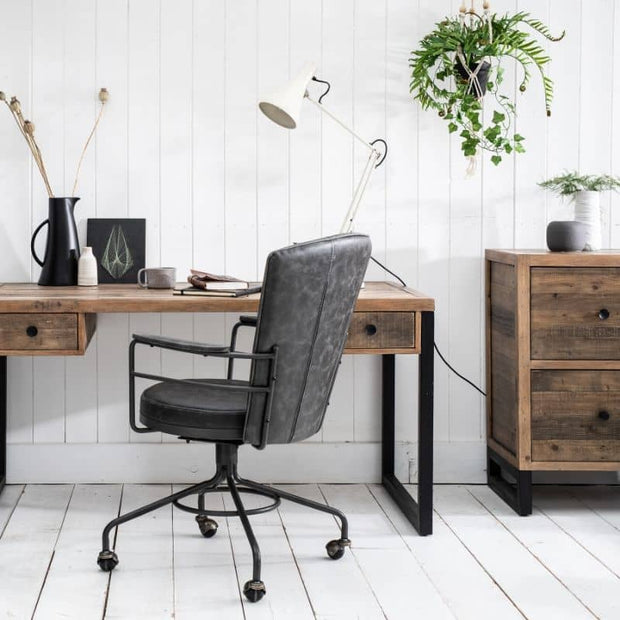 Standford Industrial Reclaimed Wood Office furniture