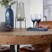 Reclaimed Wood Top of Standford Round Dining Table
