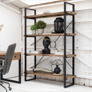Standford Industrial Reclaimed Wood Bookcase