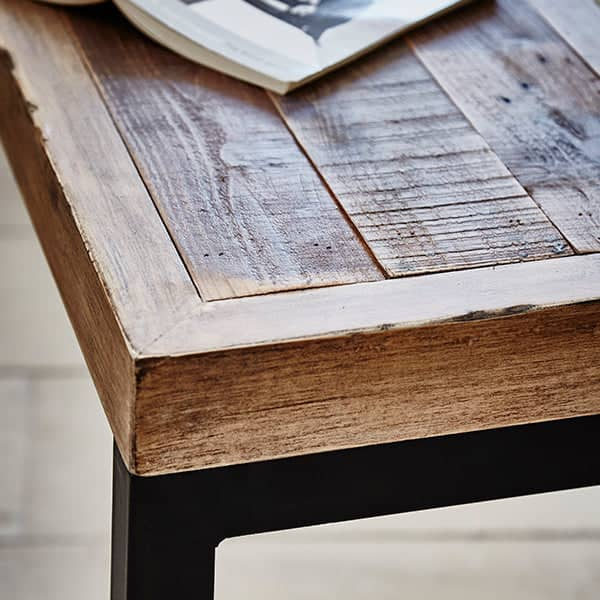 Standford Industrial Reclaimed Wood Bench detail - Modish Living