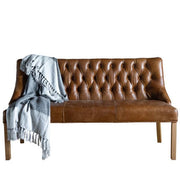 Stanton Brown Cerato Leather Dining Bench Cutout