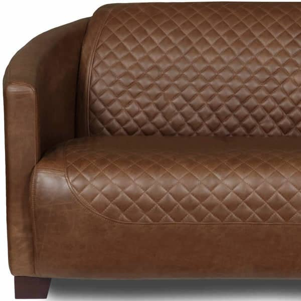 Triumph Cerato Brown Leather Sofa close up