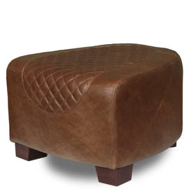 Triumph Cerato Brown Leather Footstool