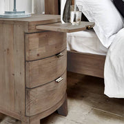 Winchester Rustic Wooden Bedside Table with Tray