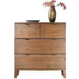 Winchester Rustic Wooden Medium Chest of Drawers Reclaimed Wood