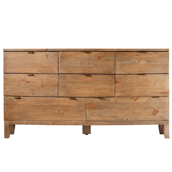 Winchester Rustic Wooden Large Chest of Drawers with 8 Drawers