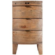 Winchester Rustic Wooden Bedside Table Cut out