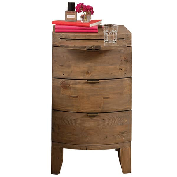 Winchester Rustic Wooden Bedside Table Cutout Lifestyle