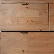 Winchester Rustic Wooden Medium Chest of Drawers Close up