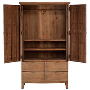 Reclaimed Wooden Wardrobe Open in Winchester Range