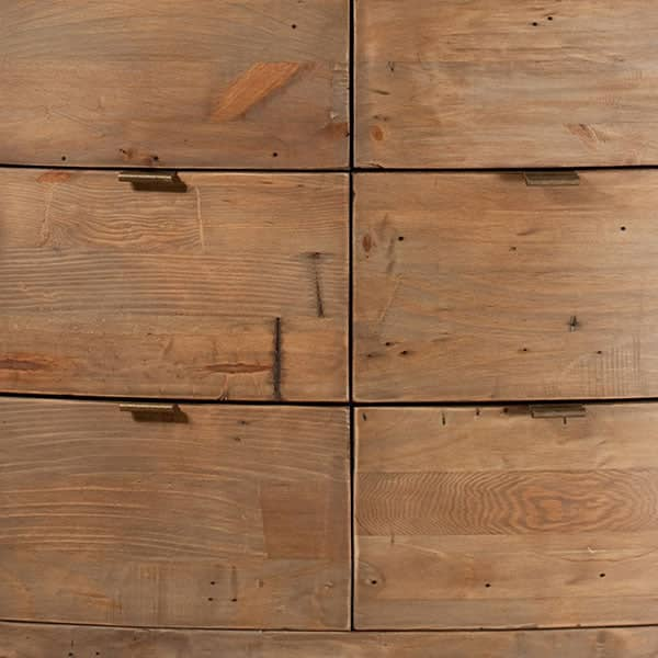 Winchester Rustic Wooden Wardrobe Close up