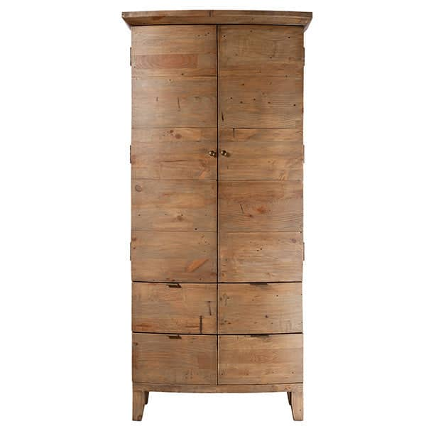 Winchester Medium Rustic Wooden Wardrobe