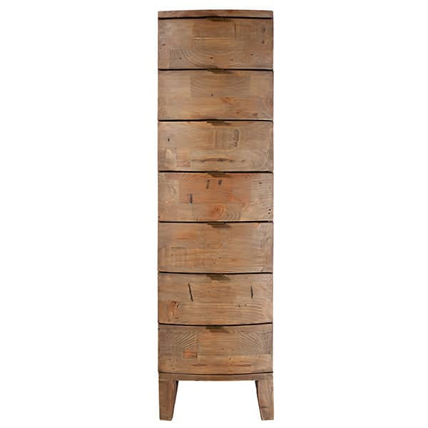 Winchester Rustic Wooden Tall Chest of Drawers Full Length