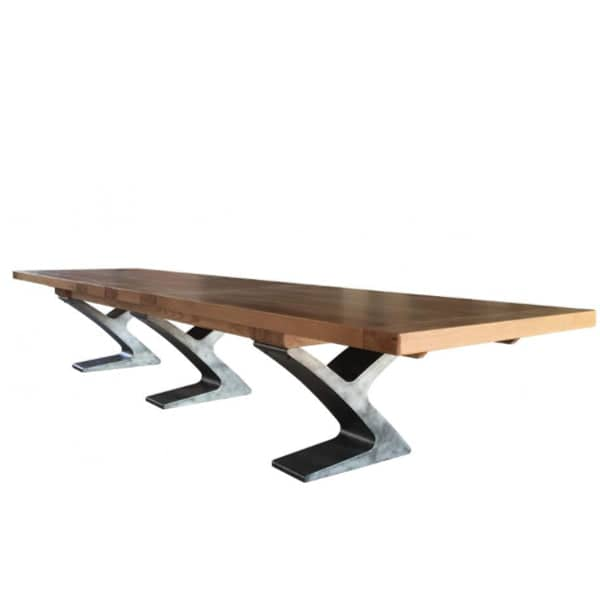 Winston Industrial Oak Boardroom Table Modish Living