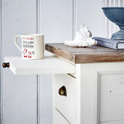 Worcester Reclaimed Wood Bedside with Tray