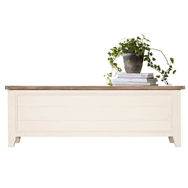 Worcester Reclaimed Wood White Painted Blanket Box