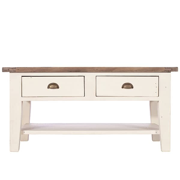 Worcester Reclaimed Wood White Painted Coffee Table