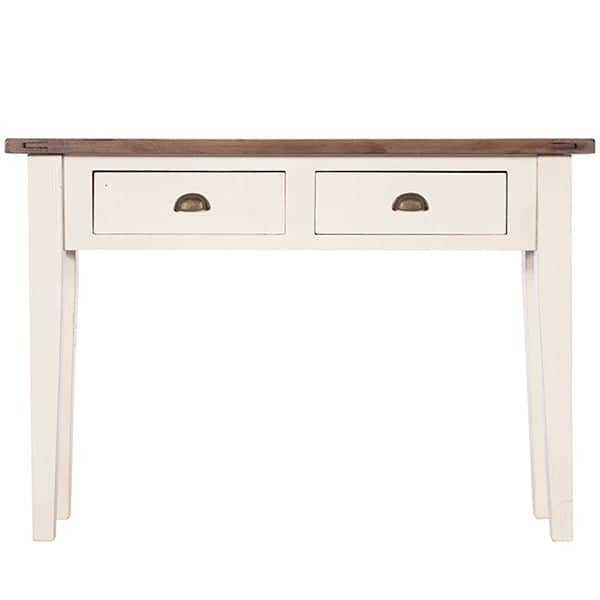 Worcester Reclaimed Wood Console Table Painted in White