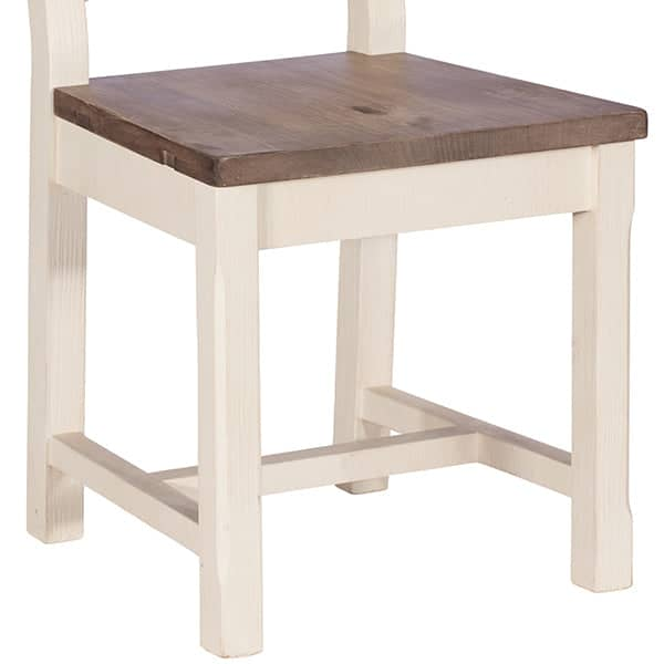 Wooden Seat of Worcester Reclaimed Wood Dining Chair