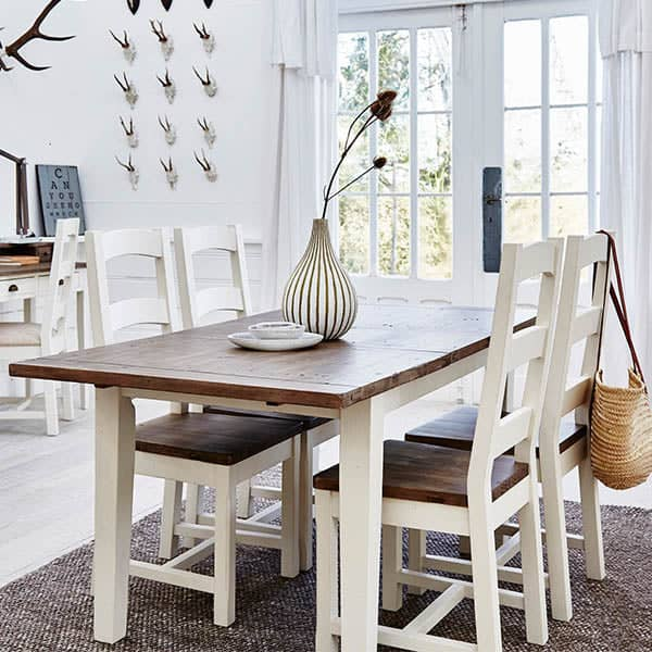 Worcester Reclaimed Wood Extendable Dining Table with Chairs
