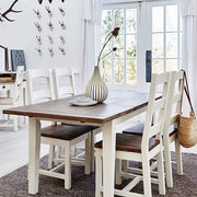 Reclaimed Wood Dining Table with matching Reclaimed Wood Dining Chairs