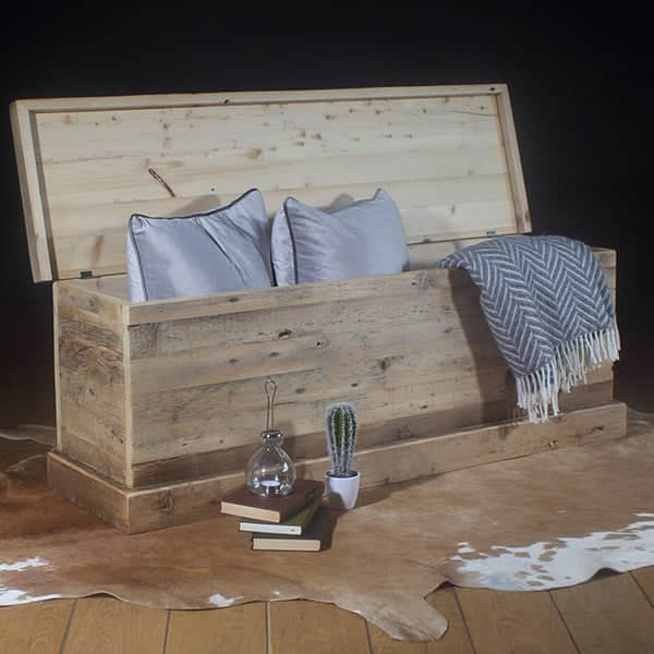 English Beam Reclaimed Wooden Toy Box & Blanket Box